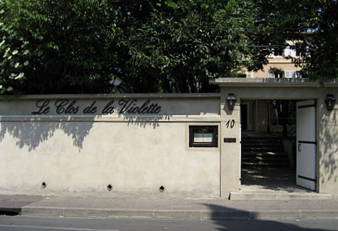 Entrance to Le Clos de la Violette