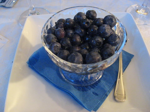 Blueberries with Maraschino