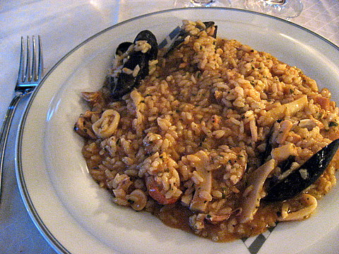 Risotto with various fish
