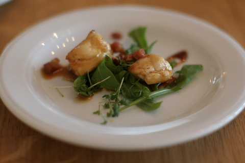 Glashuset private dining at the glassblower s table for Monkfish and parma ham recipe