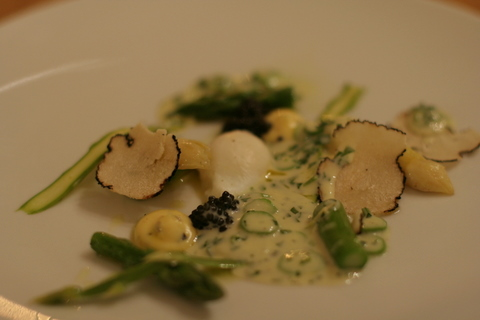Truffles and asparagus