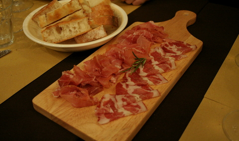 Parma ham and coppa