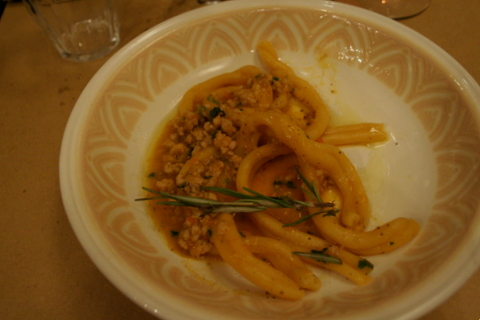 Pasta with rabbit ragout