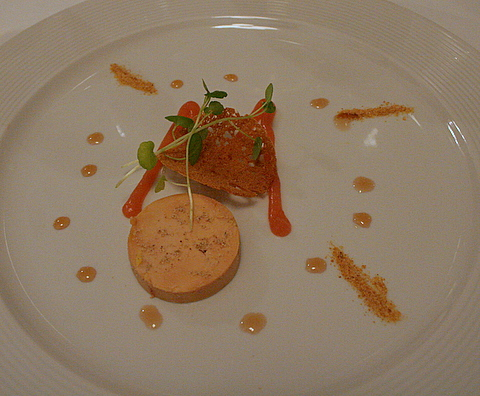 Third Starter - Foie gras terrine with quince