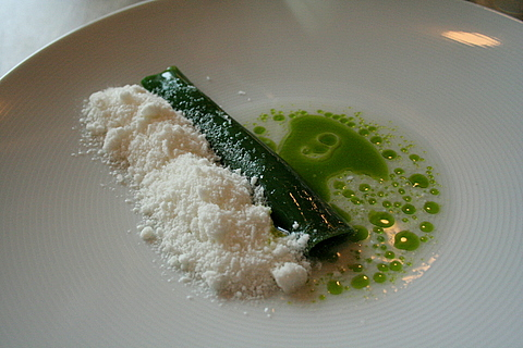 Razor clams and horseradish