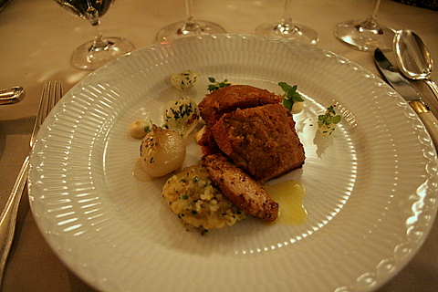 Wallard with foie gras