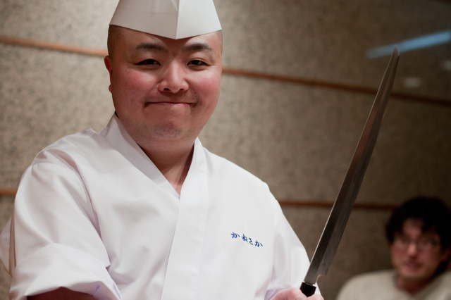 Mr Kanesaka's excellent sushi chef