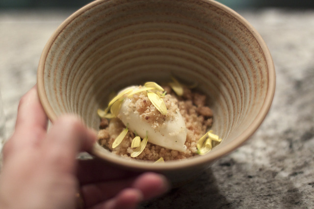 Ginger and chrysanthemum dessert - Frantzén