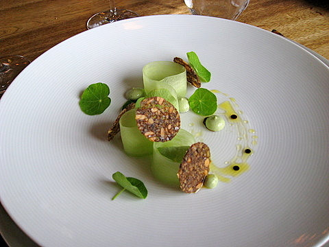 Oyster and cucumber