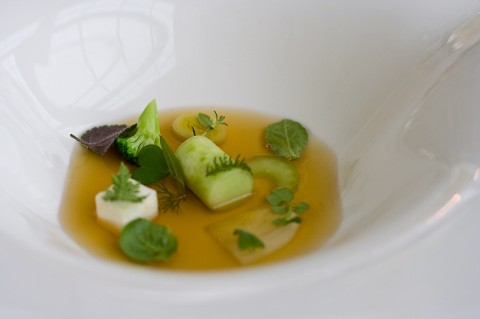 Herbs and broth